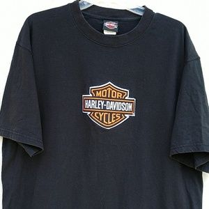 Harley Davidson Large Bar and Sheild T-shirt Black